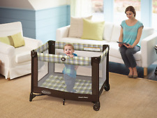 Graco Pack n Play Playard Baby Travel Portable Brown on Go Infant Playpen and