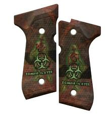 Custom Beretta 92 96 M9 Grips Ambidextrous Zombie Slayer On Biohazard