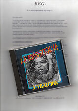 "LA RESISTENCIA ""A TRAICION"" RARE SPANISH CD + PRESS SHEET / 091 - TNT - MAGIC"