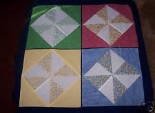 20 Pinwheel Quilt Blocks Calico-Diamond in square style