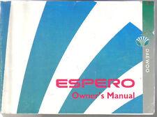 Daewoo Espero 1995-97 Original Owners Manual (Handbook) Pack inc. Service Guide