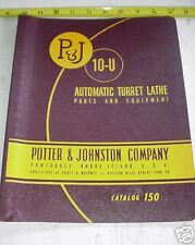 Potter Johnston Automatic Turret Lathe 10-U Manual