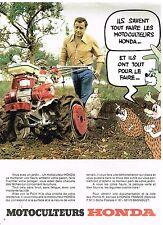 Publicité Advertising 1977 Les Motoculteurs Honda