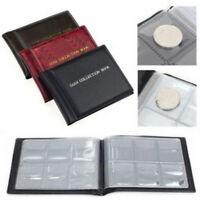 60 Coin Holder Collection Storage Album  Money Penny Pockets Album Book cheap