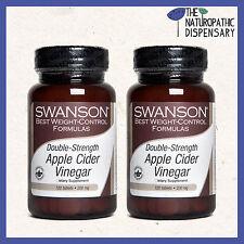 x2 Swanson. DOUBLE STRENGTH APPLE CIDER VINEGAR. 120 TABLETS 200 mg