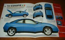 ★★1997 FIAT COUPE 20V TURBO SPEC SHEET BROCHURE POSTER PRINT PHOTO INFO 97 98 99