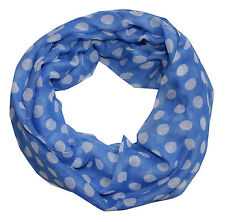 POIS Donna Sciarpa ad anello blu bianco Sciarpa tubolare