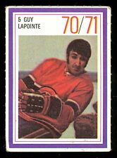 1970-71 ESSO POWER PLAYERS NHL 5 GUY LAPOINTE EX+ RC YEAR CANADIENS UNUSED STAMP