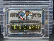 2019 Museum Fred McGriff Game Used # 1/1 Bat Barrel Nameplate Braves F15
