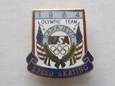 1984 USA US Olympic Team Pin - Sarajevo Winter Olympics SPEED SKATING