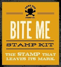 NEW Bite Me Stamp Kit : The Stamp That Leaves Its Mark by Appleseed Press Book P