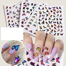 Nail Art Stickers Nails Decals Butterfly Pattern DIY Manicure Supplies