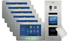 VOSPER 6 Apartments Proximity Reader ALECTO Monitors