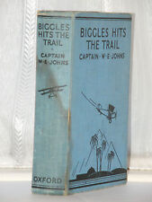 W E Johns - Biggles Hits The Trail Pyramid Ed c1940