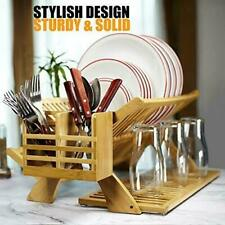 Earth's Dreams Bamboo Dish Drying Rack – Collapsible Dish Drying Rack