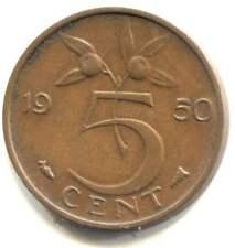 1950 Netherlands Five Cent Coin - Nederlanden - Juliana Koningin - 5 Cents