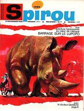 ▬► Spirou Hebdo - n°1492 du 17 Novembre 1966 - SANS mini-récit TBE
