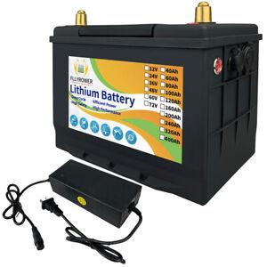 12V 80Ah Lithium Batterie LiFePO4 BMS tiefer Zyklus Mit Ladegerät Solar Akku