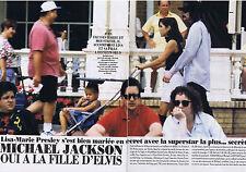 COUPURE DE PRESSE CLIPPING 1994 MICHAEL JACKSON oui à fille d'Elvis (4 pages)