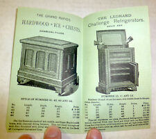 1880s Leonard Refrigerators, Ice Chests ad, Grand Rapids, Michigan history paper