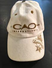 CAO Fine Cigars Cap Hat White Adjustable