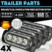 4 X 4LED Auto LKW Frontblitzer Blitzlicht Warnleuchte Strobe Licht 12 - 24V