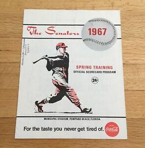 Washington Senators 1967 Spring Training Program Scorebook Pompano Beach Florida