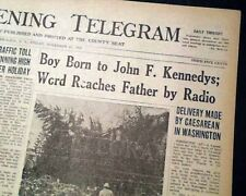 JOHN F. KENNEDY JR. BORN President-Elect JFK Son Birth 1960 Old Newspaper