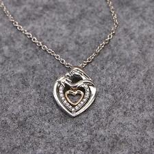 Mom And Baby Necklace Mother's Day Gift Mother Crystal Rhinestone Heart Pendant