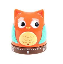 Novelty Owl Owlet Kitchen Timer Bell Alarm Mechanical 60 Minute Clock Egg Timer