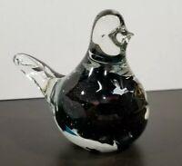 Phoenician Glass MALTA w/Original Label Bird Glass Paperweight Controlled Bubble