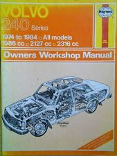 VOLVO 240 HAYNES MANUAL (1974-1984 MODELS) free p&p to uk