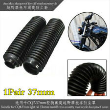 2x Motorcycle Front Fork Gaiters Boots Shock Protector Dust Cover Black Plastic