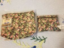 Mary Engelbreit Cosmetic Bag Cherries Set Of 2 Nordic House Nwt