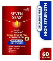 2 X Seven Seas Simply Timeless High Strength Cod Liver Oil 60 capsules*Multi-Buy