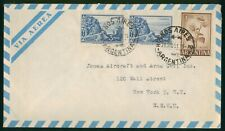 Mayfairstamps Argentina 1951 Buenos Aires to US New York Airmail cover wwo1641