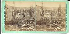 C R Savage Stereoview – View of Truckee (California) from the South 1860s