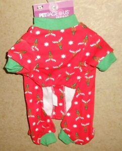 Petrageous Designs Christmas Dog Onsie Pajamas Size X-Small