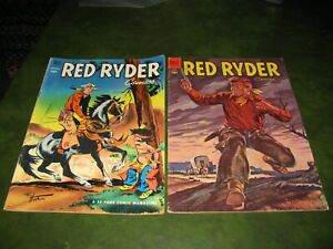 Red Ryder Comics #110 & #130 Lot of 2 Dell Golden Age Western Comic Books Fine