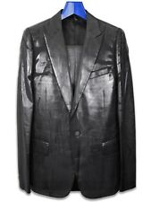 Dior Homme AW03 Luster Runway Wax Coating Smoking Tuxedo Suit sz. eu48 us38