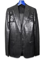 Dior Homme Tuxedo Smoking Suit Wax Coating Luster Runway AW03sz. eu48 us38