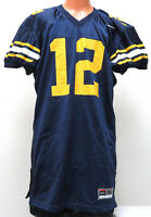 vtg MICHIGAN WOLVERINES #12 Nike Game Jersey XL 2000s made in USA navy blue home