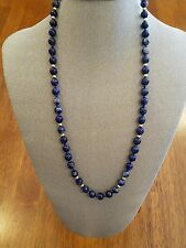 28 inch 14k and beautiful blue lapis beaded necklace
