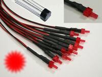 S878 - 5 Stück Blink Tower LEDs 2mm rot diffus LED mit Kabel für 12-19V Flash