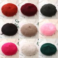 Invierno Suelta. Boina de fieltro Boina de lana Boina de otoño Sombrero plano