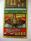 HAMM'S BEER OLD DERBY ALE DENVER  BLACK AMERICANA  SAMPLE MATCHCOVER