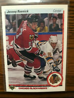 1990 Upper Deck Hockey Jeremy Roenick ROOKIE RC #63 Centered Raw
