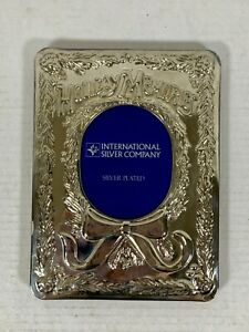 Silver Plated CHRISTMAS PHOTO ALBUM Holiday Memories INTERNATIONAL SILVER CO