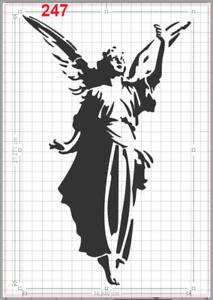 Beautiful Standing Angel Stencil MYLAR A4 sheet strong reusable Craft Art deco
