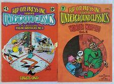 Underground Classics 1 & 2 (1985) Underground Comic FINE Free Shipping!